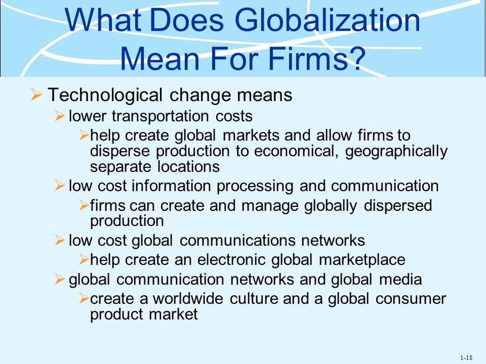 What Does Globalization Mean For Firms