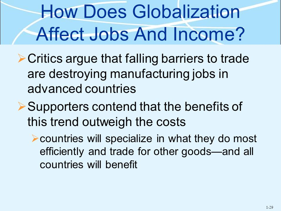 How Does Globalization Affect Jobs And Income
