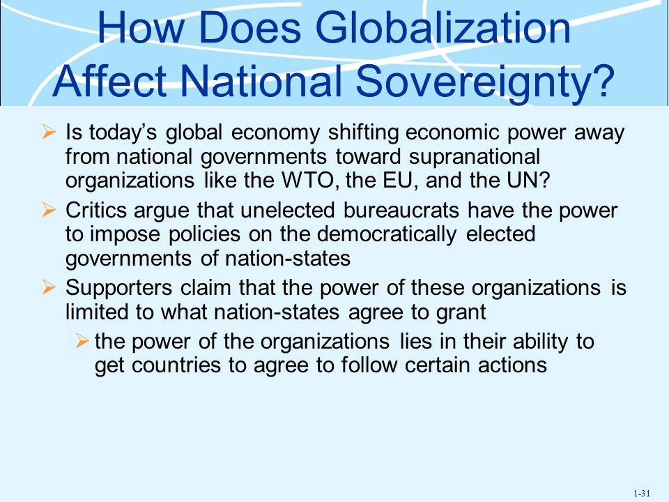 How Does Globalization Affect National Sovereignty