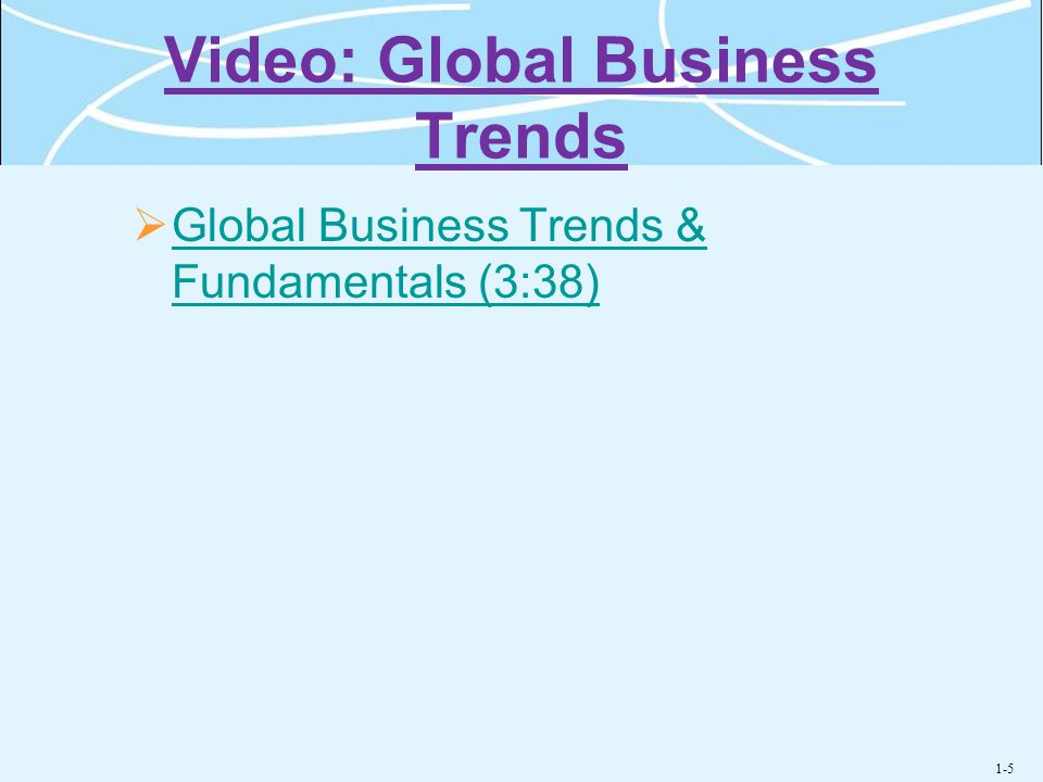 Video: Global Business Trends