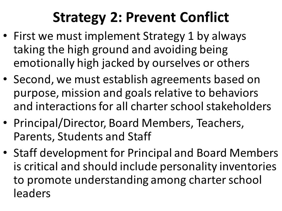 how to implement conflict strategies pdf
