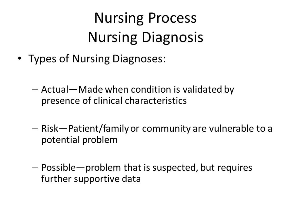 a wellness nursing diagnoses focuses on Many nurses feel that the nanda system focuses mainly on  can be used to formulate problem and wellness nursing diagnoses for a postpartum client.