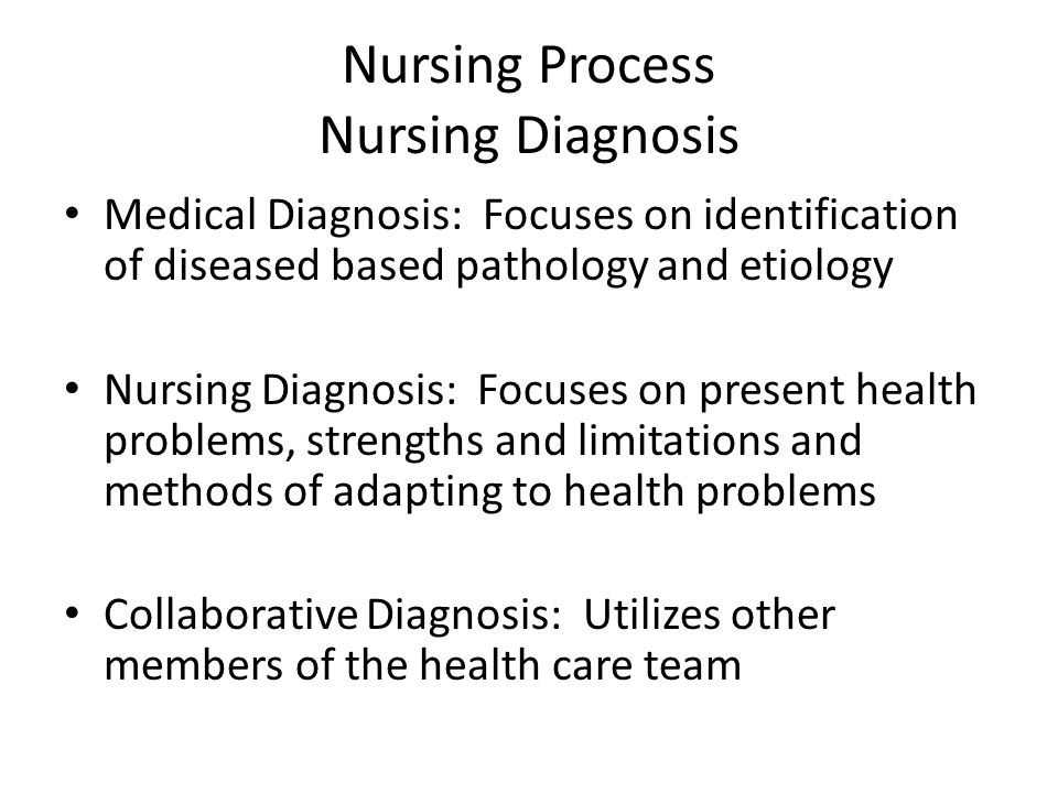 Differentiate between nursing diagnoses and collaborative problems