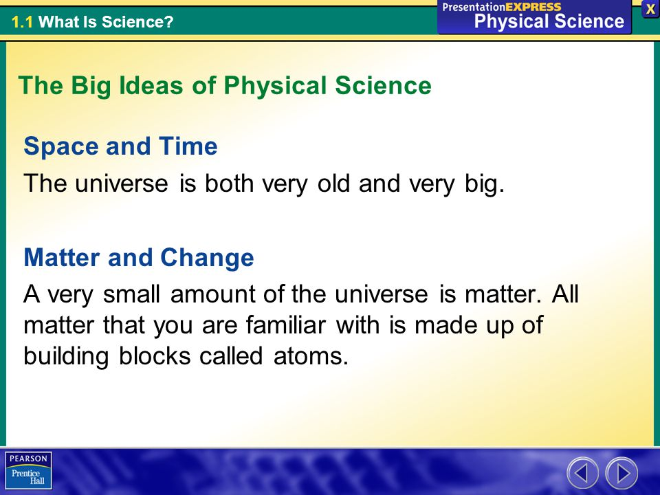 The Big Ideas of Physical Science