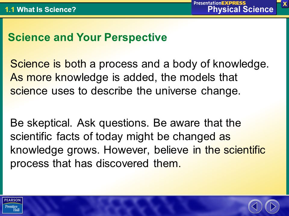 Science and Your Perspective