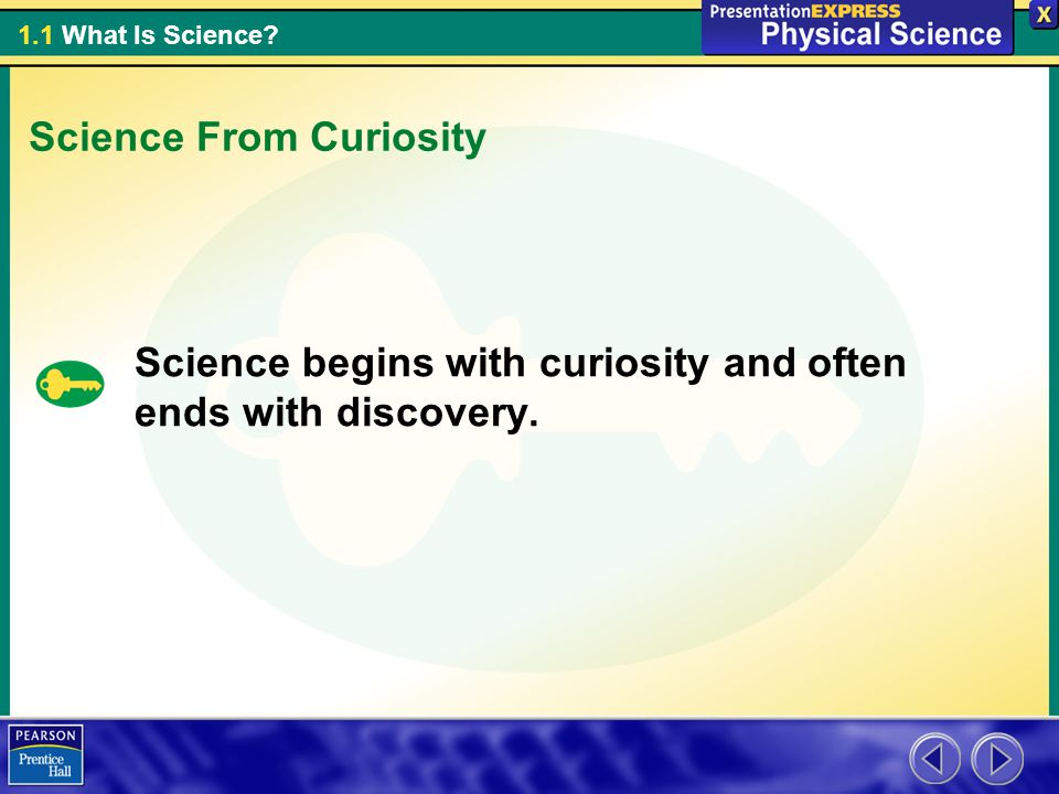 Science From Curiosity