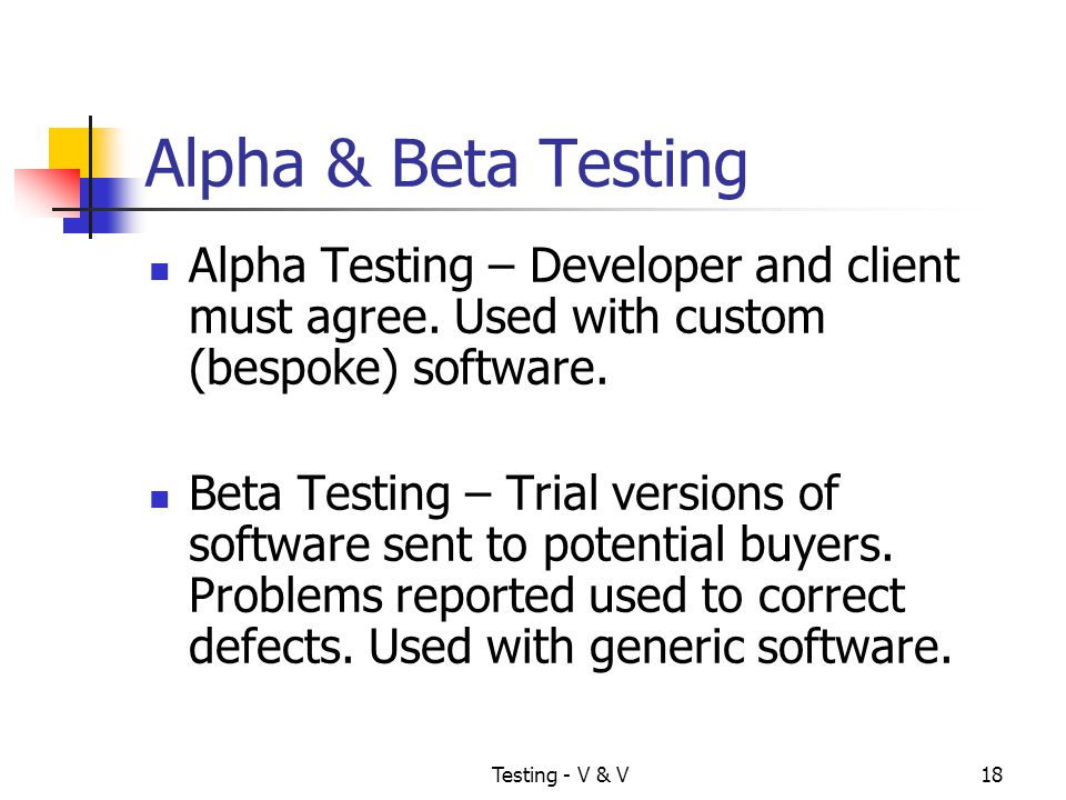 alpha and beta testing Confusing statistical terms #2: alpha and beta  but as it turns out, there are even more meanings of both alpha and beta here they are: hypothesis testing as i already mentioned, the definition most learners of statistics come to first for beta and alpha are about hypothesis testing.