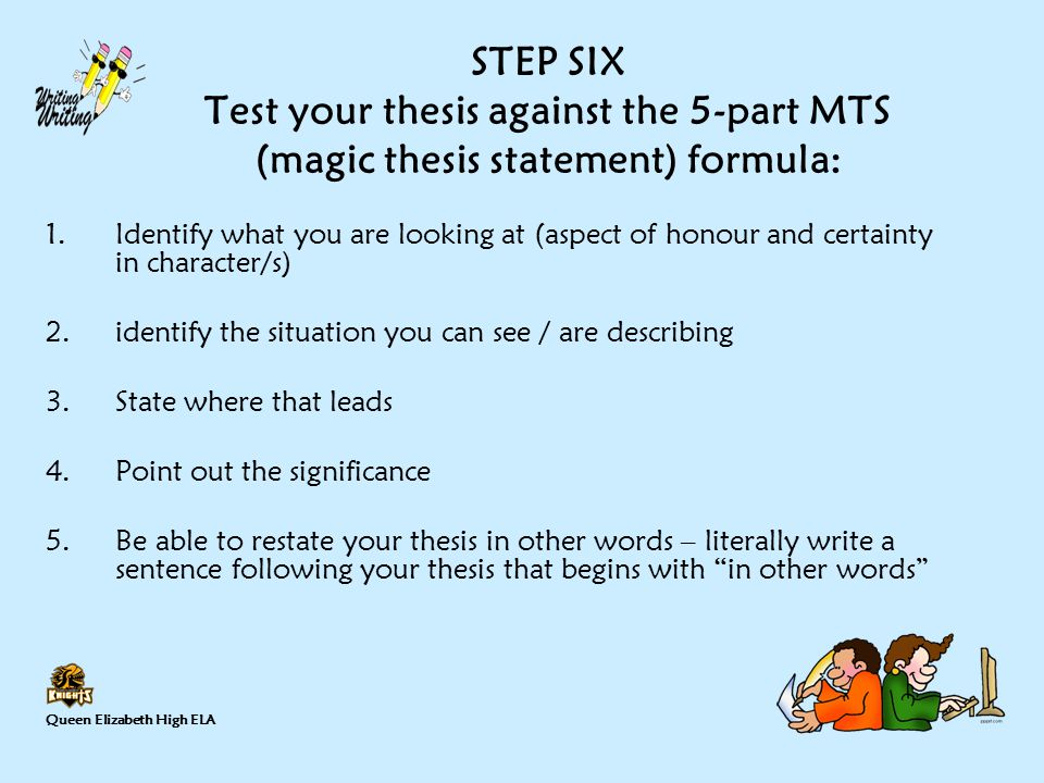 how to write a 3 point thesis