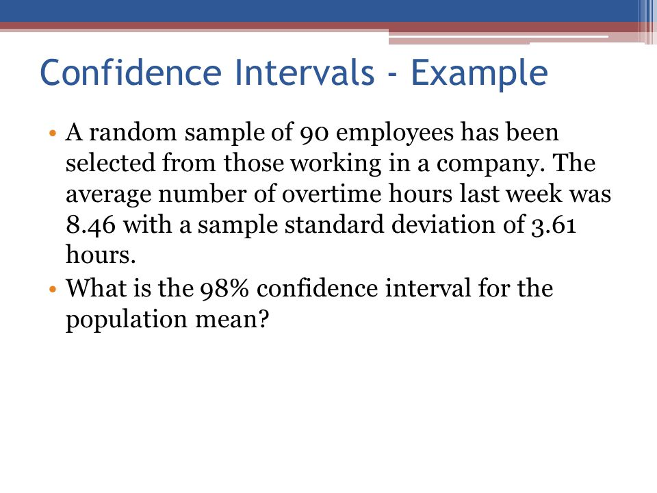 how to choose appropriate confidence interval