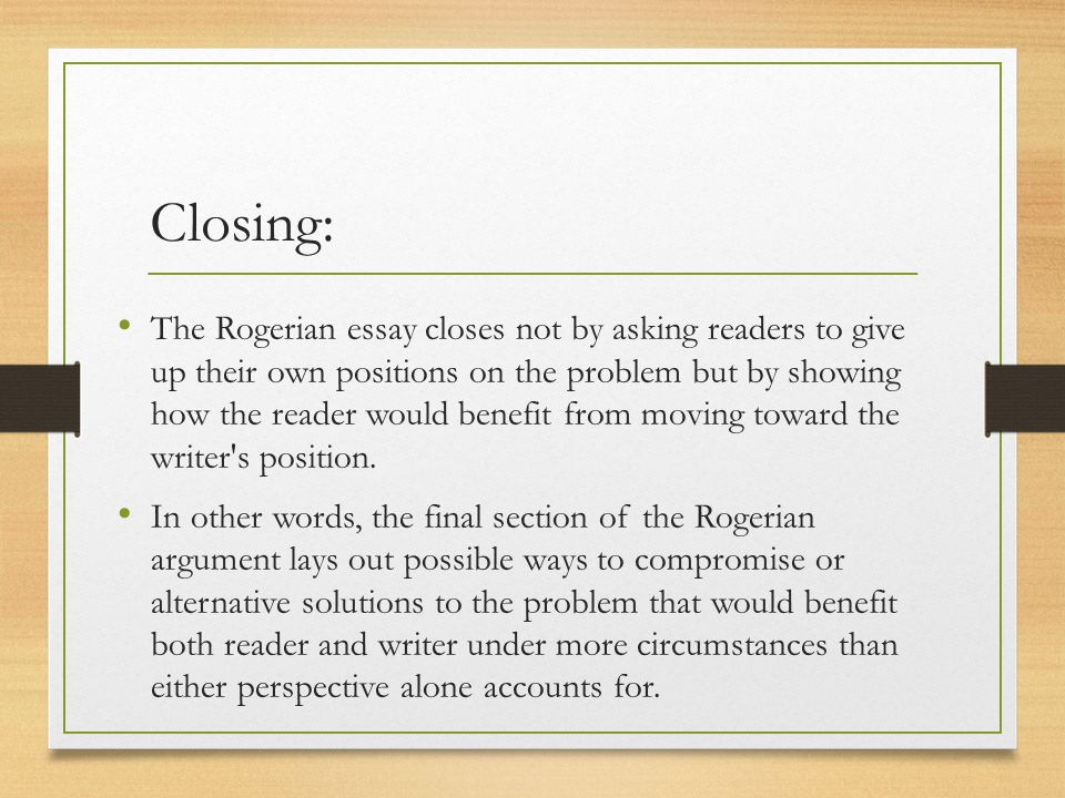 structuring analyzing arguments ppt video online 31 closing the rogerian essay