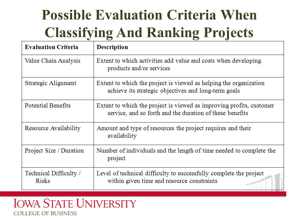 project analysis and evaluation pdf