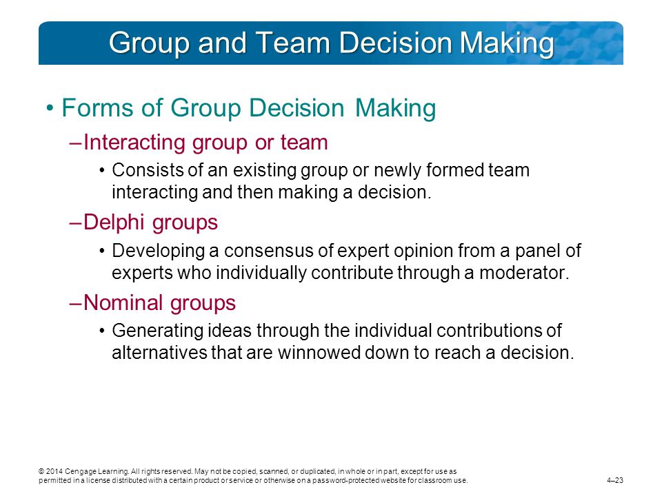 advantages and disadvantages of individual decision making Group decision making with its advantages and disadvantages - introduction to management (itm), third semester | second year, tribhuvan university (tu.