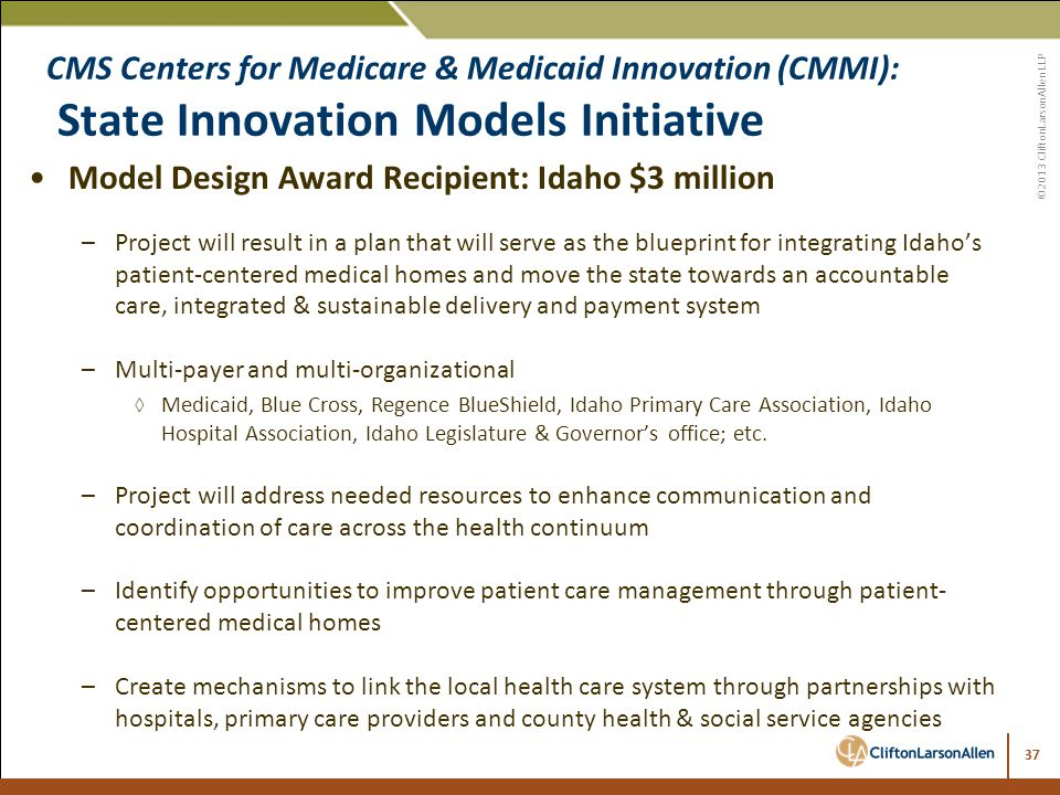 Innovation and risk bringing the future of payment reform into model design award recipient idaho 3 million malvernweather Choice Image