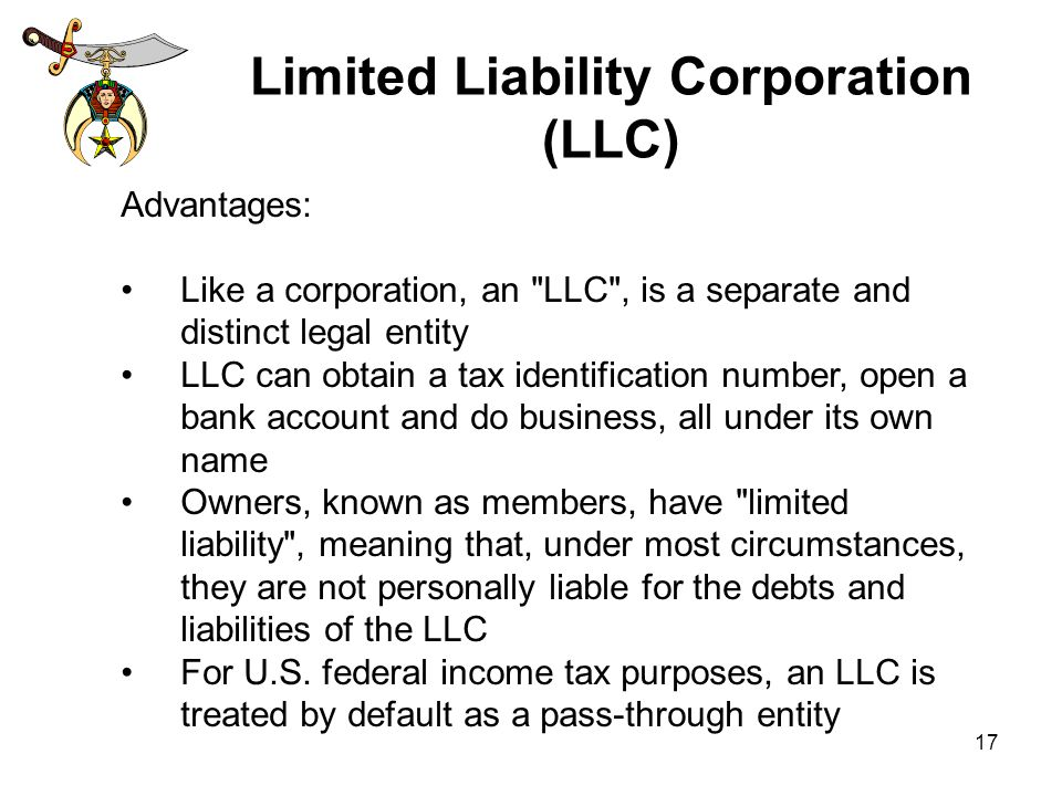 limited liability corporation One of the main tax benefits of an llc is that it allows you, as a business owner,  what are the tax benefits of an llc (limited liability corporation.