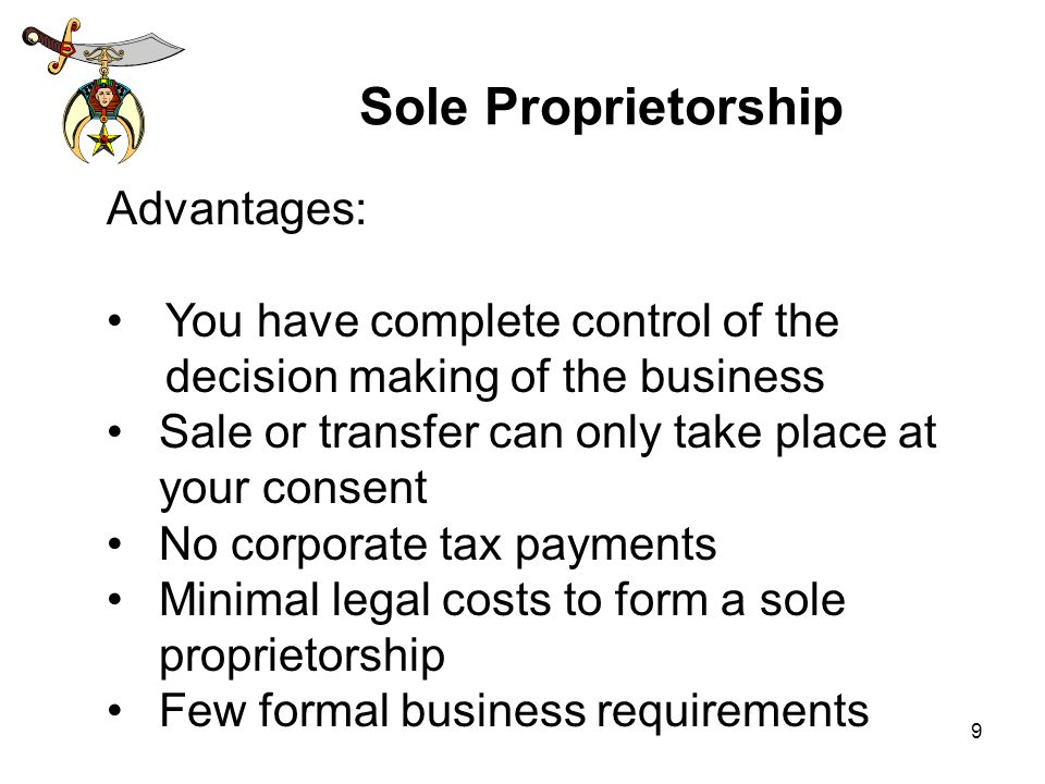 the advantages and disadvantages of sole proprietorship Sole proprietorship – advantages and disadvantages  consider operating as a  sole trader if your business is small and capital investment is.