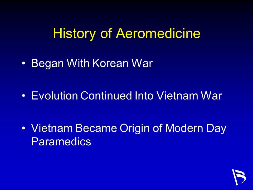 History of Aeromedicine