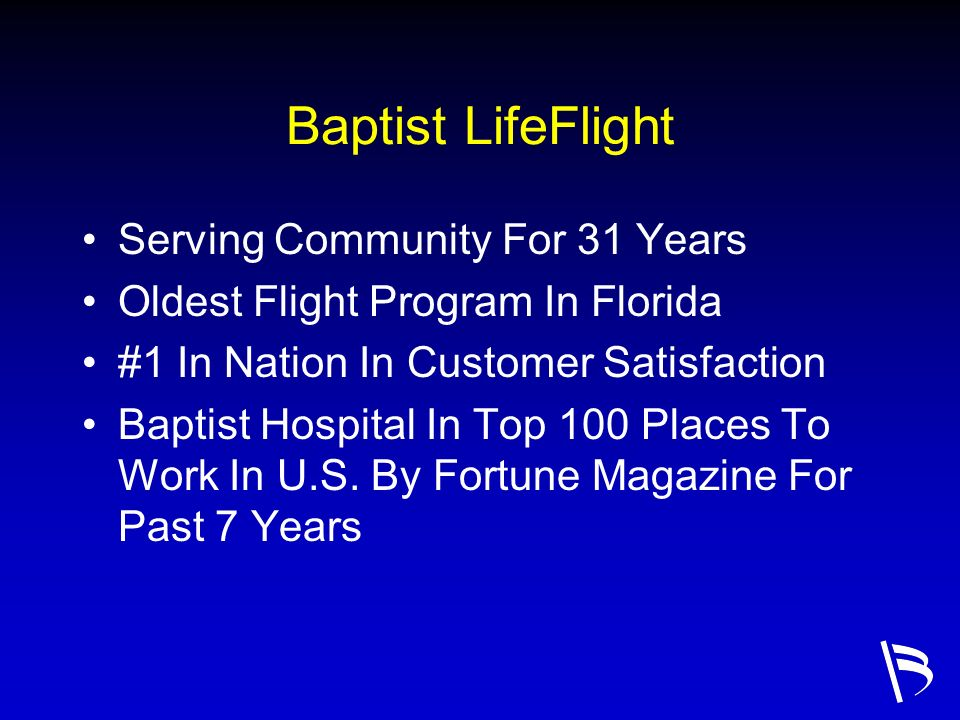 Baptist LifeFlight Serving Community For 31 Years