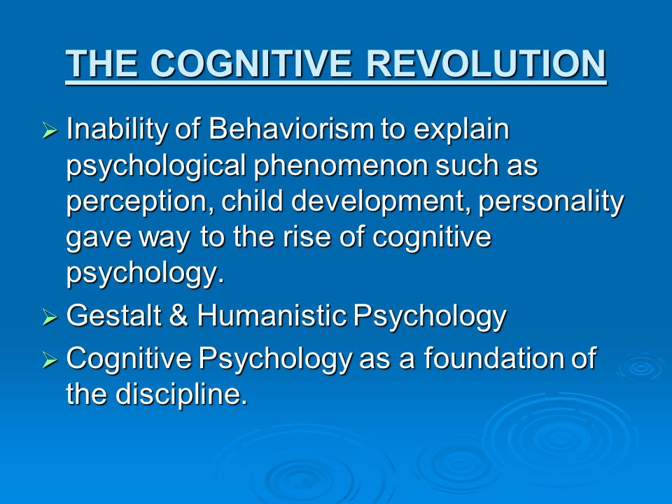 The Evolution of Cognitive Psychology