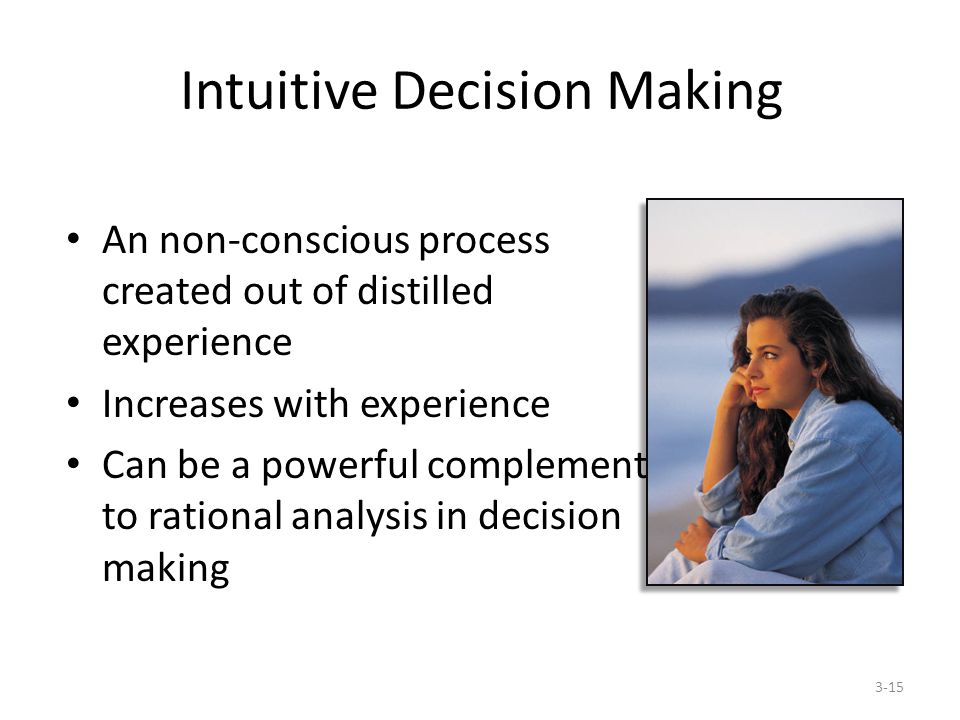 intuitive decision making theory Of intuition in relation to complex decision-making  of unconscious thought in  intuitive decision-making  the unconscious thought theory (dijksterhuis and.
