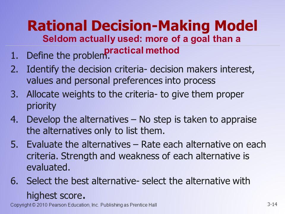 rational decision making model pdf