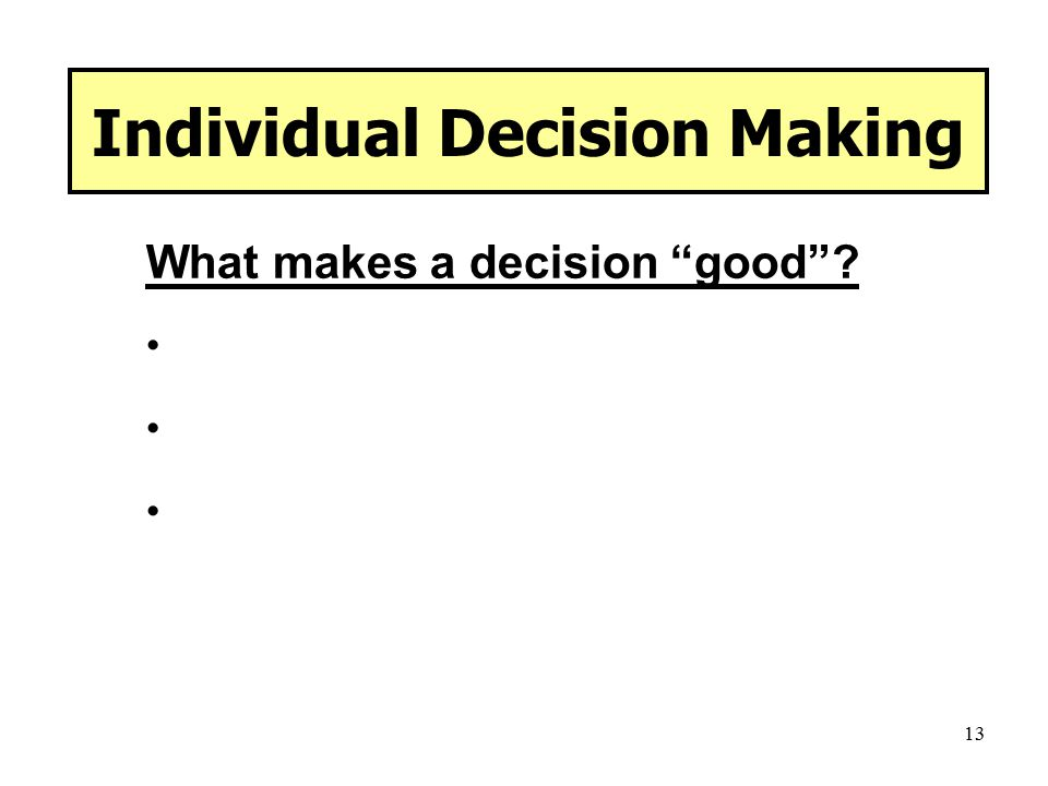 link between perception and decision making pdf