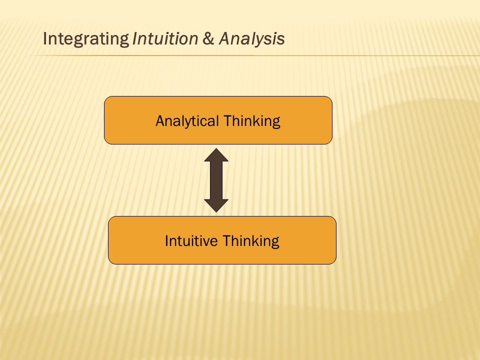 integrating intuition and analysis Intuitive provides system analysis, technology integration and technology implementation support to companies and their products transitioning from development to production.