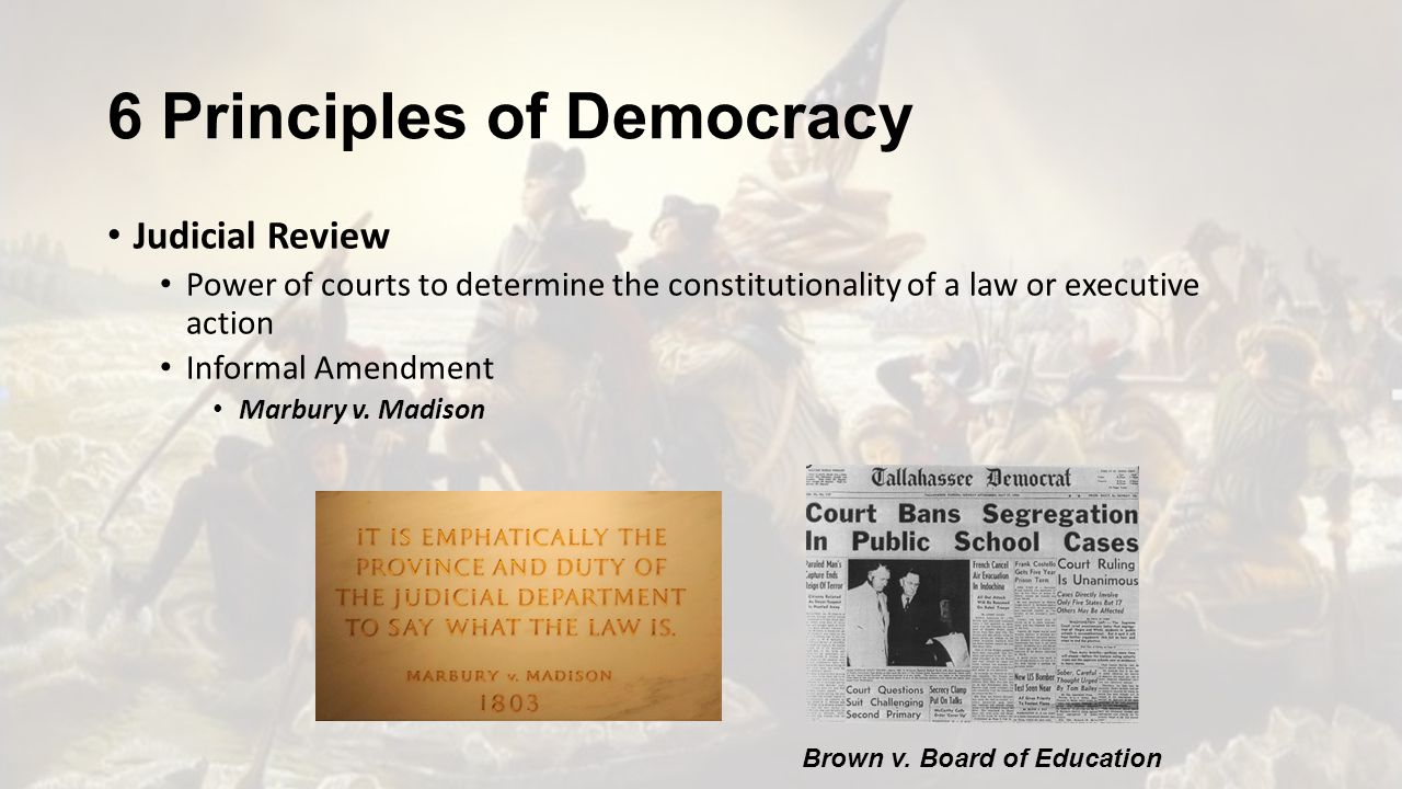 principles of democratic education Civic education should help students develop a reasoned commitment to those fundamental values and principles necessary for the preservation and improvement of american constitutional democracy civic education, however, must distinguish between education and indoctrination.