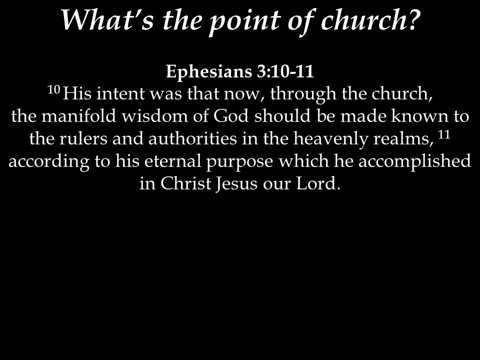 What's the point of church