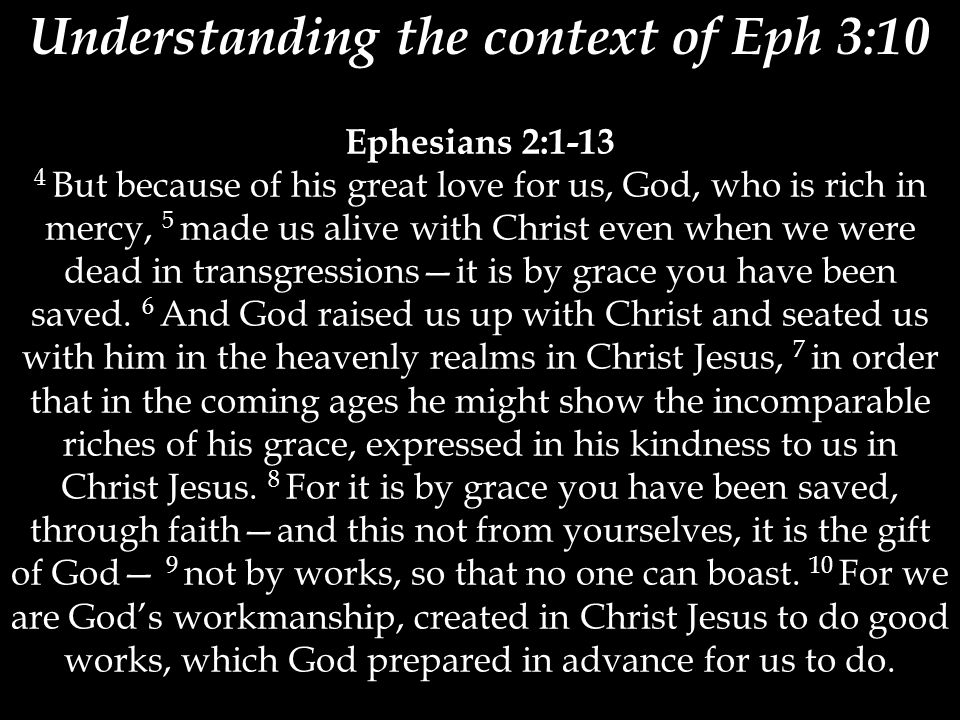 Understanding the context of Eph 3:10