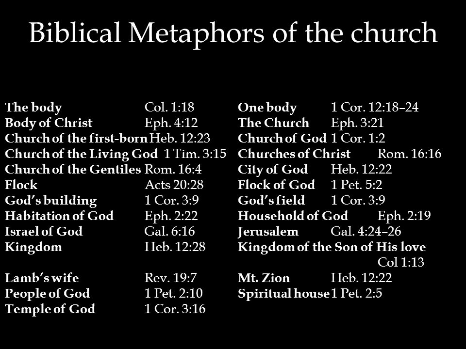 Biblical Metaphors of the church