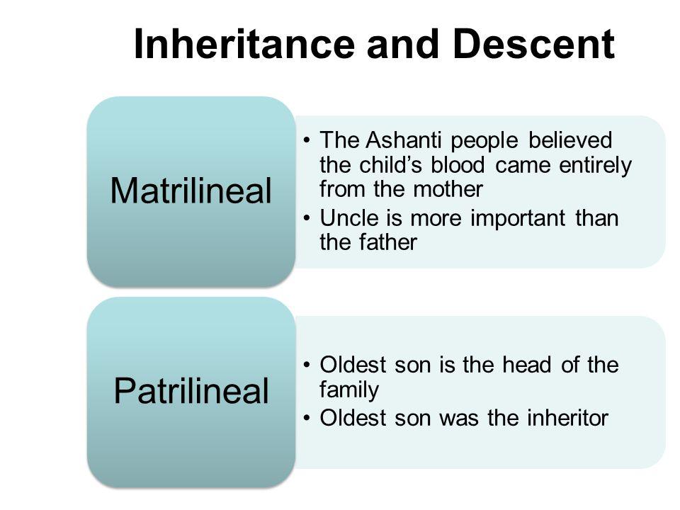 Inheritance and Descent
