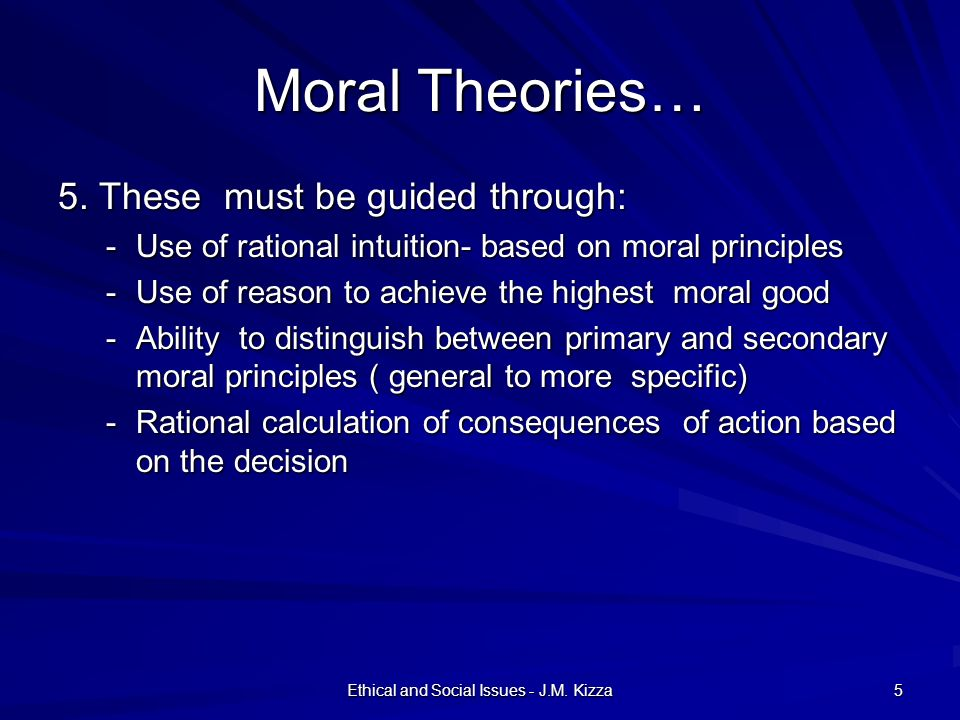 Ethical and Social Issues - J.M. Kizza