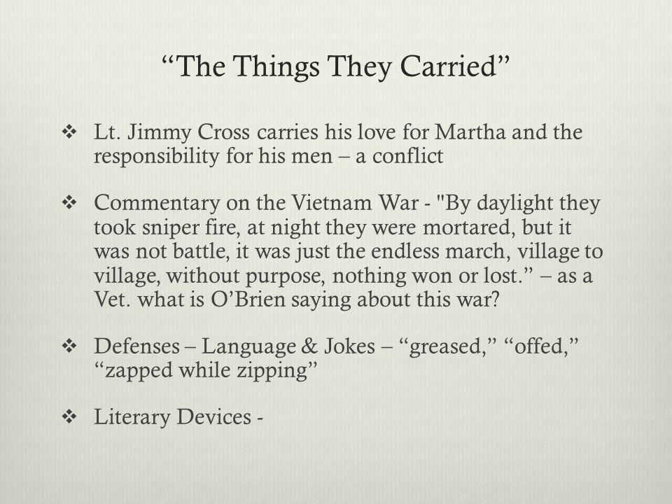 The Things They Carried, Tim O'Brien - Essay