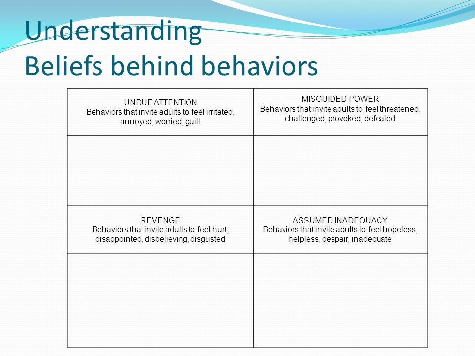 Understanding Beliefs behind behaviors