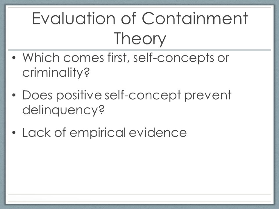 self control theory of crime evaluation Keywords: internet pornography self-control theory online deviance  the  general theory of crime (also referred to as self-control theory) seems appropriate   most strongly related to these two forms of pornography use, and to evaluate  the.