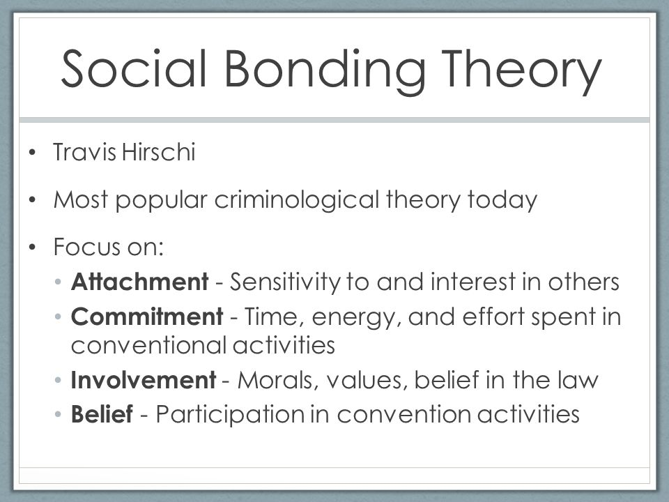 travis hirschis social bond theory