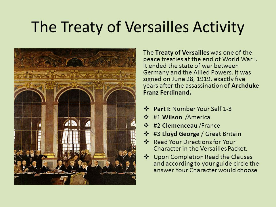 Why was the treaty of Versailles so unfair?