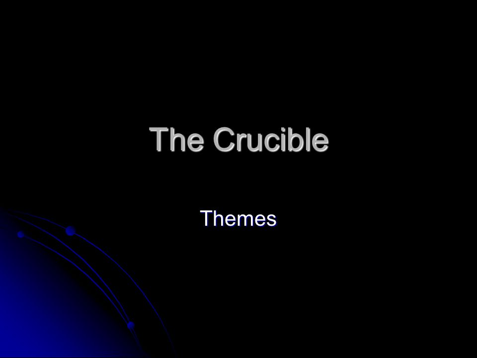 individuality in the crucible The themetracker below shows where, and to what degree, the theme of puritanism and individuality appears in each act of the crucible click or tap on any chapter to read its summary & analysis click or tap on any chapter to read its summary & analysis.