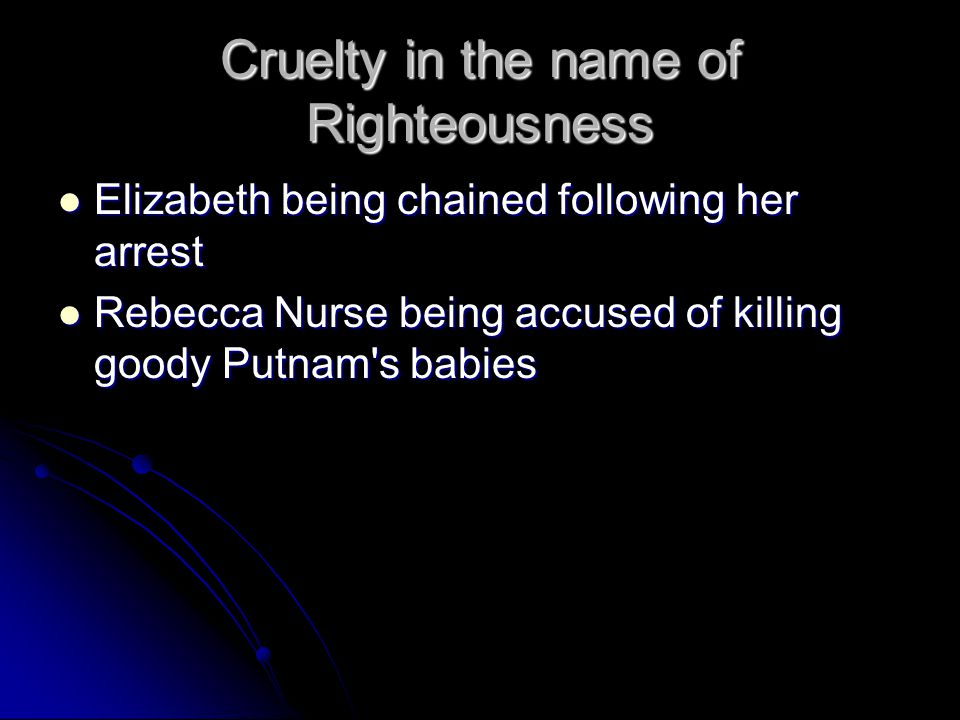 innocent people died for being wrongfully accused of witchcraft in the crucible The crucible: act notes – act 4 guilt of them that died till finally realised that he mistakenly accused people of witchcraft after wrongfully trusting.