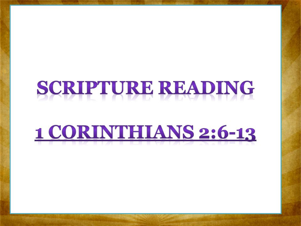 interpretative reading of corinthians Readings and reflections from the new testamant new testament readings related topics: i gain nothing (corinthians 12:31-13:8a) one body and one spirit.