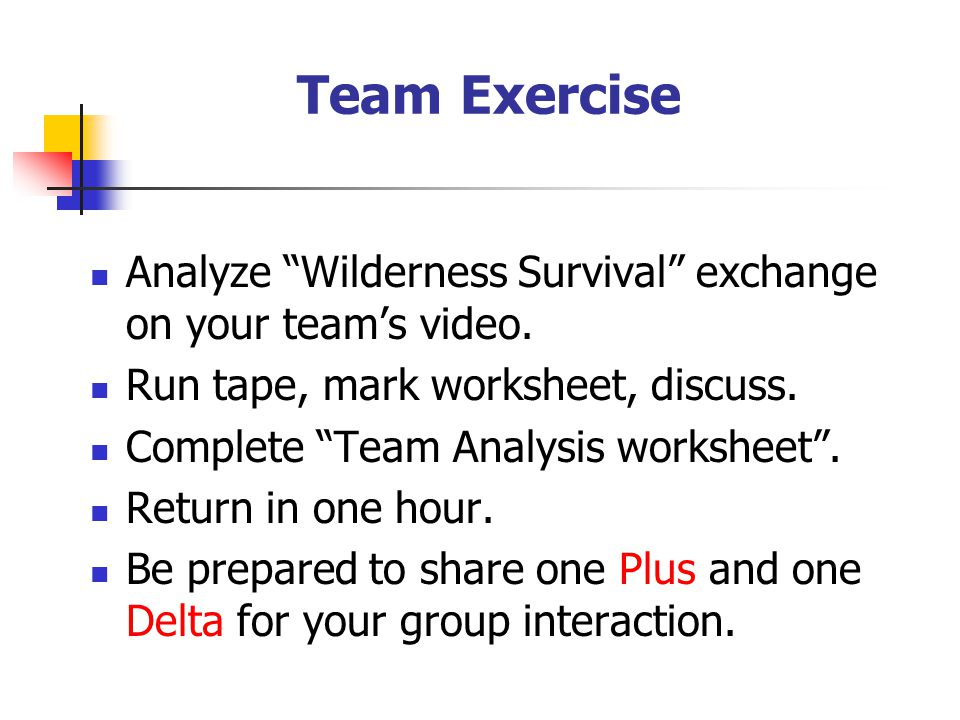 Building Teams A Five Day Experiential Learning Event ppt video – Video Analysis Worksheet