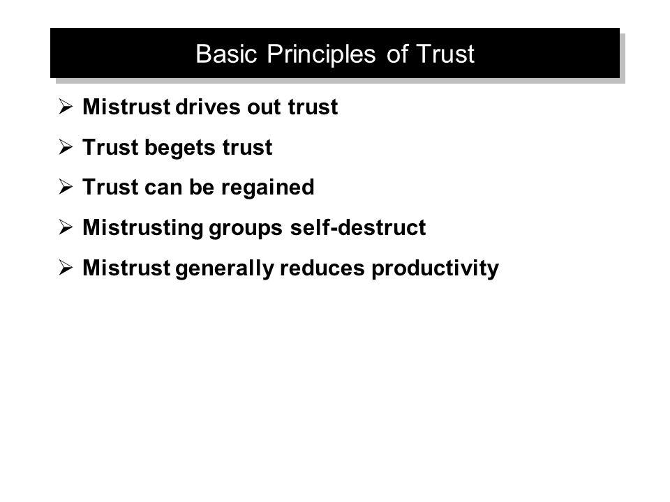 Basic Principles of Trust