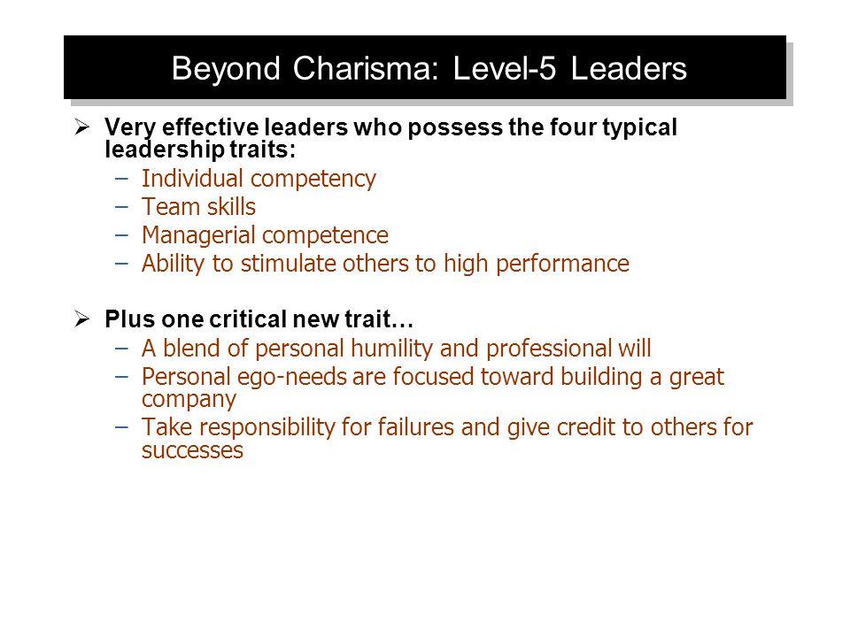 Beyond Charisma: Level-5 Leaders