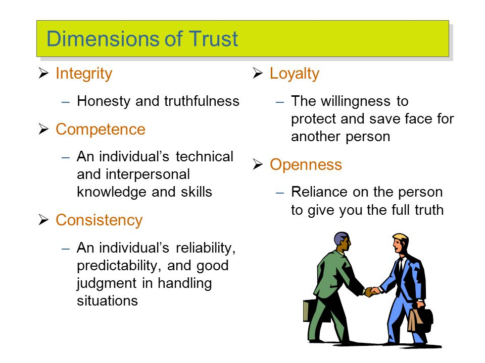 Three Types of Trust Deterrence-based Trust Knowledge-based Trust