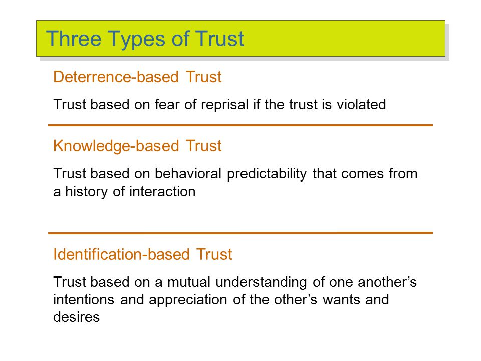 Basic Principles of Trust