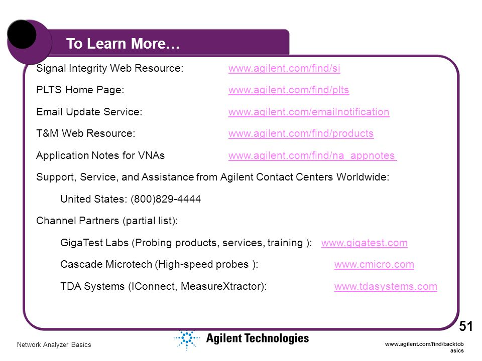 Agilent Network Simulator : Network analyzer basics ppt video online download