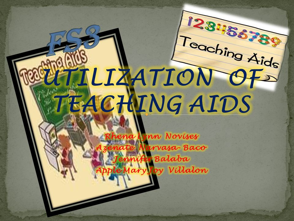 UTILIZATION OF TEACHING AIDS Apple Mary Joy Villalon