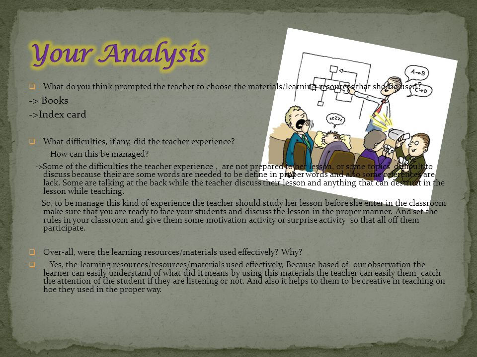 Your Analysis -> Books ->Index card