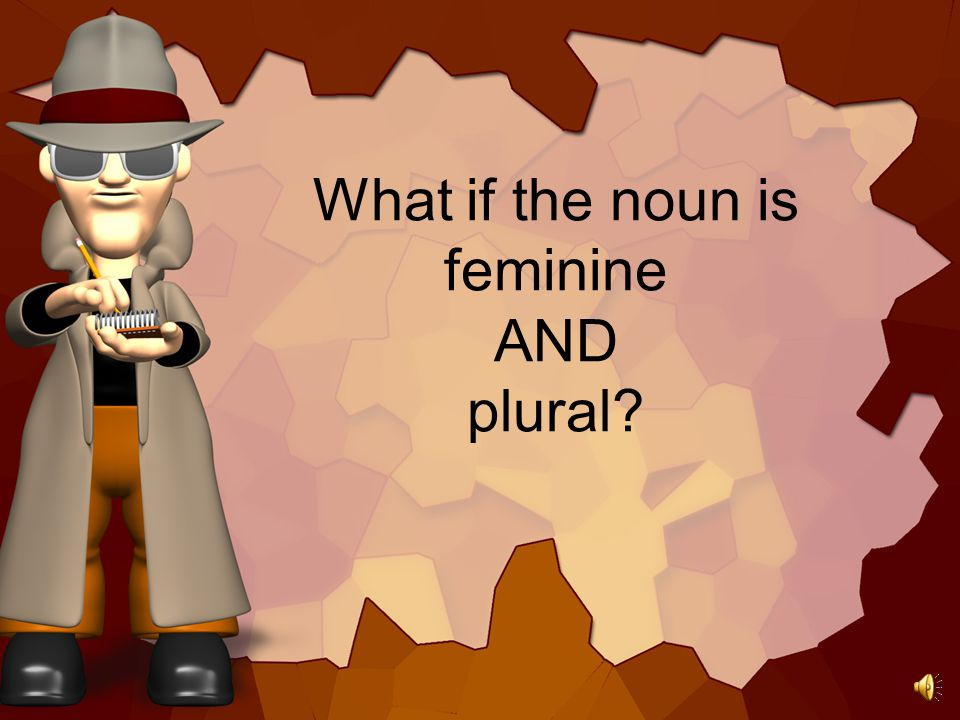 What if the noun is feminine AND plural