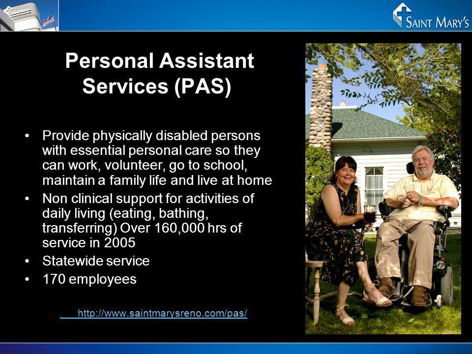 Personal Assistant Services (PAS)